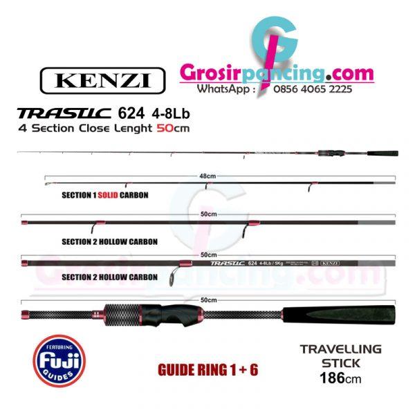 Joran Kenzi Trastic 624UL Traveler Stick 4-8lb